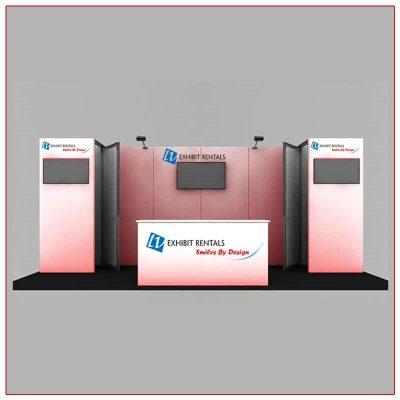 10x20 Trade Show Booth Rental Package 201 Front View - LV Exhibit Rentals in Las Vegas