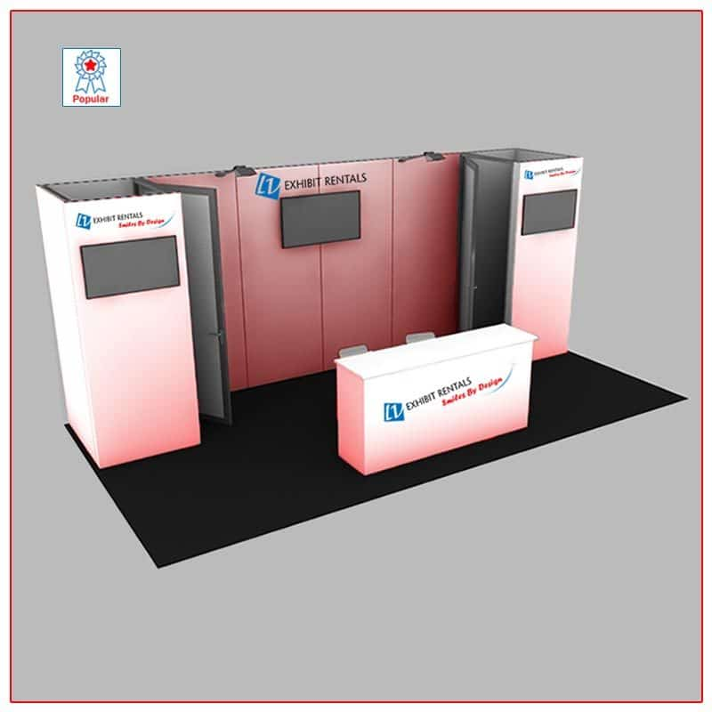 10x20 Trade Show Booth Rental Package 201 Popular - LV Exhibit Rentals in Las Vegas