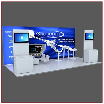 10x20 Trade Show Booth Rental Package 202 - Angle View2 - LV Exhibit Rentals in Las Vegas