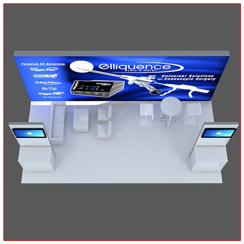 10x20 Trade Show Booth Rental Package 202 - Top-Down View - LV Exhibit Rentals in Las Vegas
