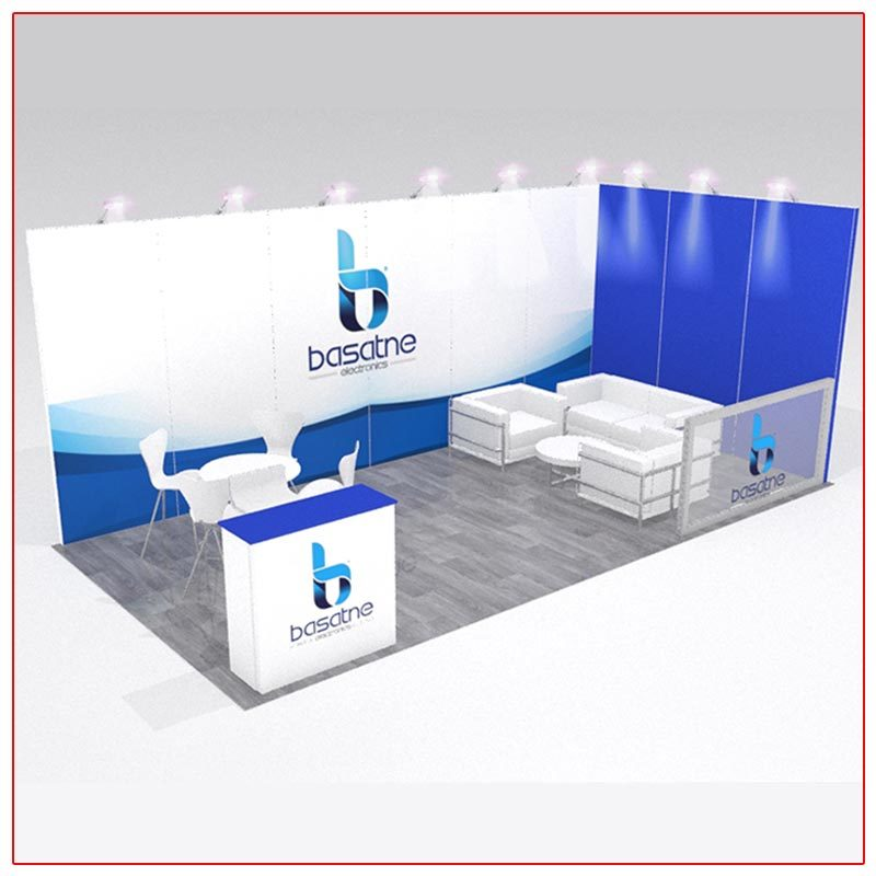 10x20 Trade Show Booth Rental Package 203 - LV Exhibit Rentals in Las Vegas