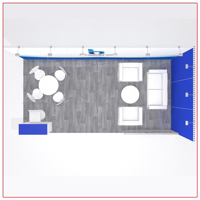 10x20 Trade Show Booth Rental Package 203 - Top-Down View - LV Exhibit Rentals in Las Vegas