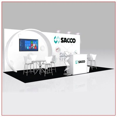 10x20 Trade Show Booth Rental Package 204 - LV Exhibit Rentals in Las Vegas