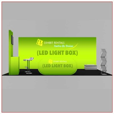 10x20 Trade Show Booth Rental Package 205 - Front View - LV Exhibit Rentals in Las Vegas