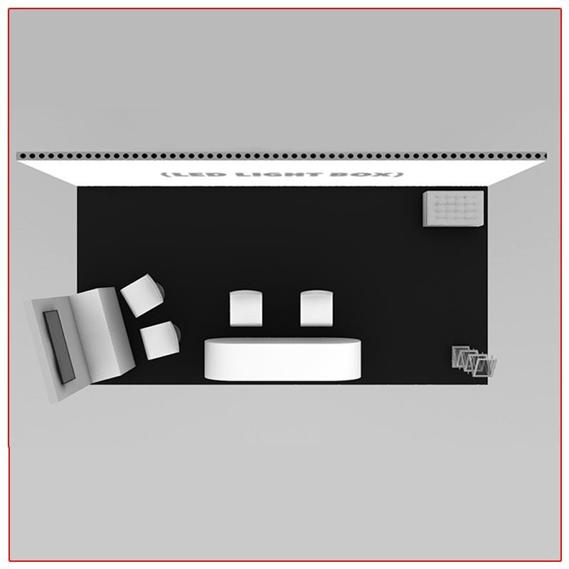 10x20 Trade Show Booth Rental Package 205 - Top-Down View - LV Exhibit Rentals in Las Vegas