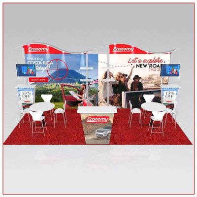 10x20 Trade Show Booth Rental Package 206 - Front View - LV Exhibit Rentals in Las Vegas
