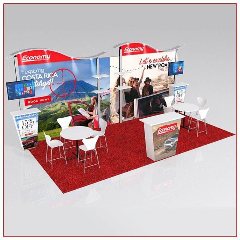 10x20 Trade Show Booth Rental Package 206 - LV Exhibit Rentals in Las Vegas