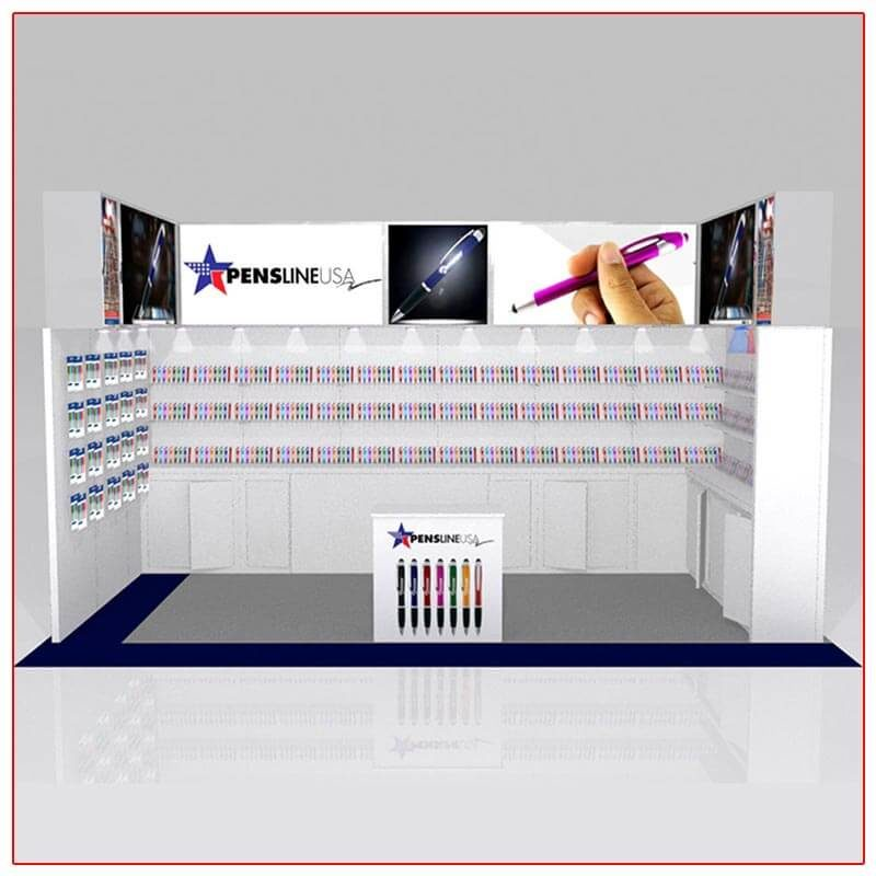 10x20 Trade Show Booth Rental Package 207 - Front View - LV Exhibit Rentals in Las Vegas
