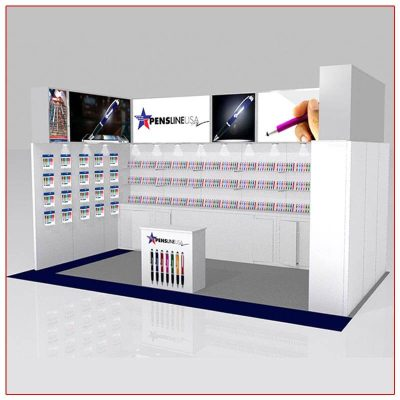 10x20 Trade Show Booth Rental Package 207 - LV Exhibit Rentals in Las Vegas