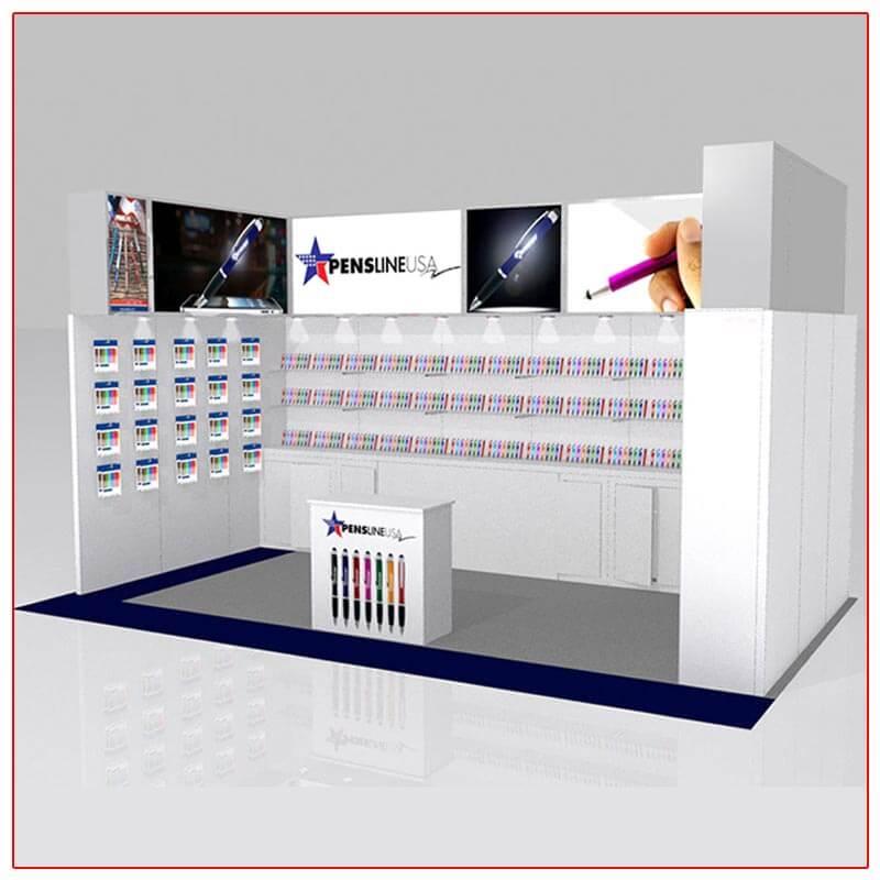 10x20 Trade Show Booth Rental Package 207 - LV Exhibit Rentals in Las Vegas