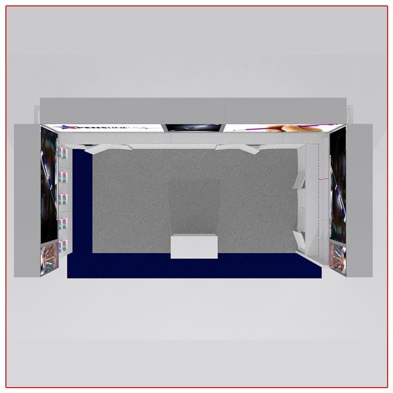 10x20 Trade Show Booth Rental Package 207 - Top-Down View - LV Exhibit Rentals in Las Vegas