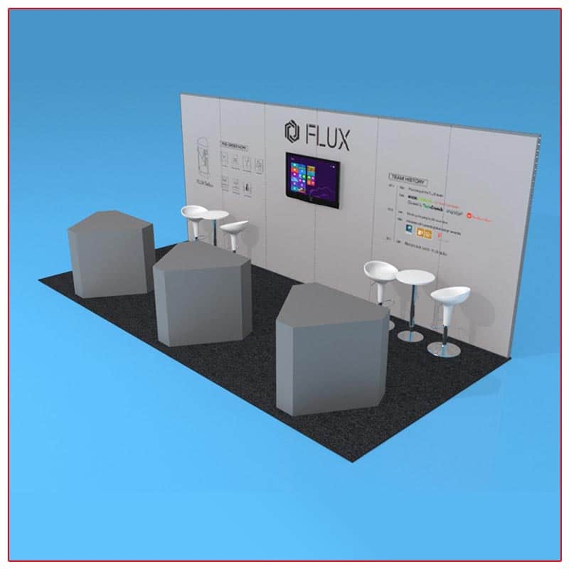 10x20 Trade Show Booth Rental Package 208 Angle View - LV Exhibit Rentals in Las Vegas