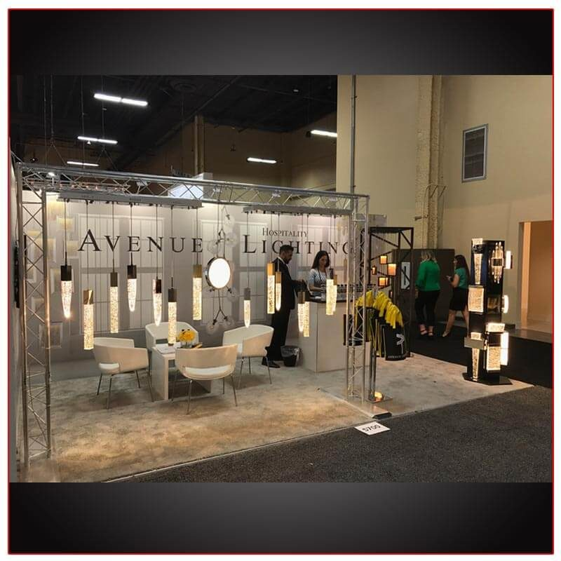 10x20 Trade Show Booth Rental Package 209 Angle View - LV Exhibit Rentals in Las Vegas