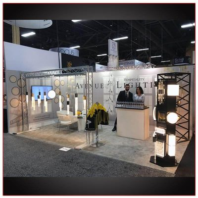 10x20 Trade Show Booth Rental Package 209 - LV Exhibit Rentals in Las Vegas