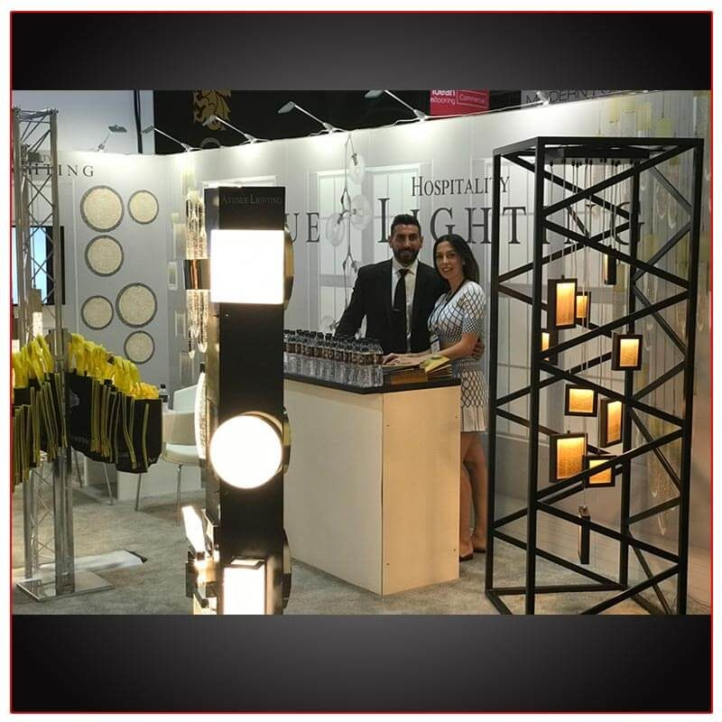 10x20 Trade Show Booth Rental Package 209 - LV Exhibit Rentals in Las Vegas - Smiles by Design
