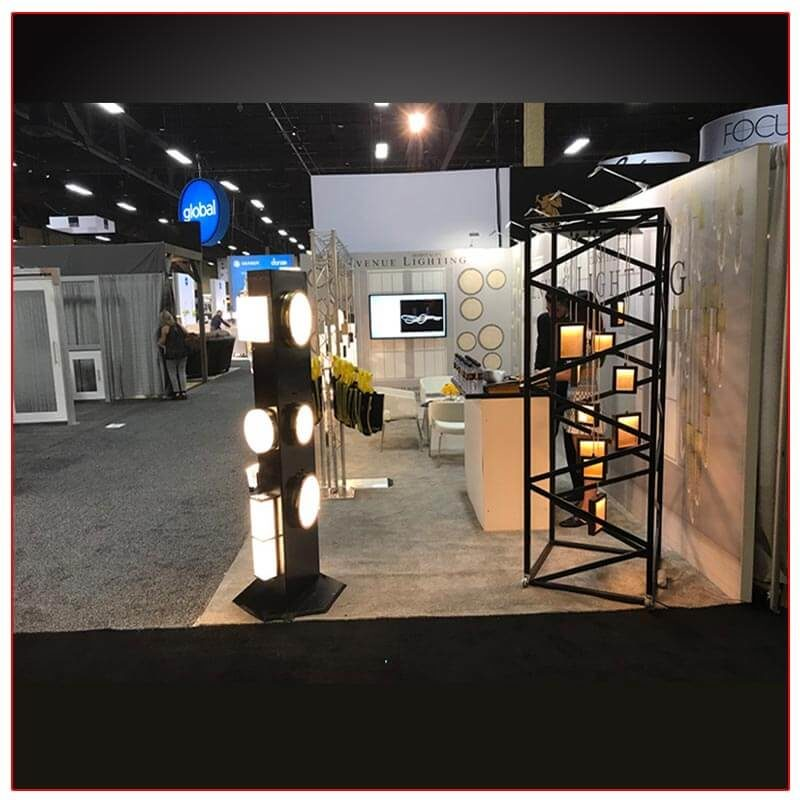 10x20 Trade Show Booth Rental Package 209 Side View - LV Exhibit Rentals in Las Vegas