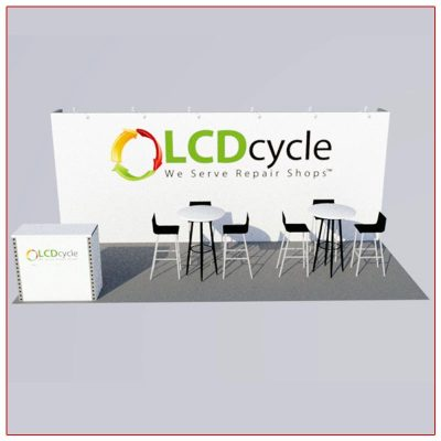 10x20 Trade Show Booth Rental Package 210 Front View - LV Exhibit Rentals in Las Vegas