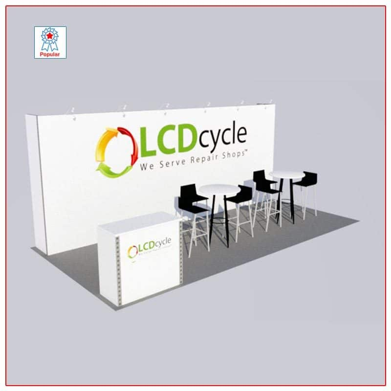 10x20 Trade Show Booth Rental Package 210 - LV Exhibit Rentals in Las Vegas