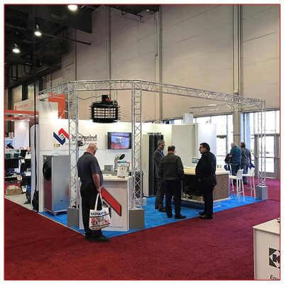 10x20 Trade Show Booth Rental Package 211 - LV Exhibit Rentals in Las Vegas