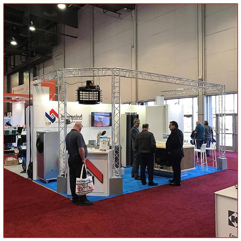 10x20 Trade Show Booth Rental Package 211 - LV Exhibit Rentals in Las Vegas