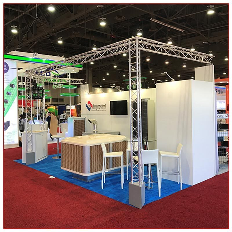 10x20 Trade Show Booth Rental Package 211 Right View - LV Exhibit Rentals in Las Vegas