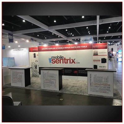 10x20 Trade Show Booth Rental Package 212 Front View - LV Exhibit Rentals in Las Vegas
