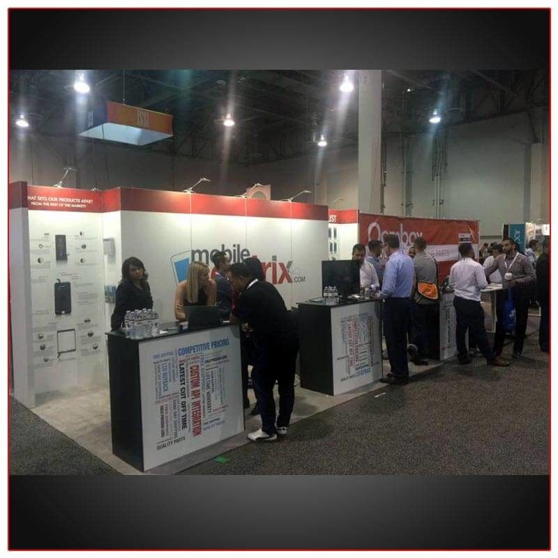 Mobile Sentrix - 10x20 Trade Show Booth Rental Package 212 - LV Exhibit Rentals in Las Vegas
