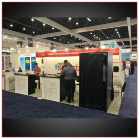 10x20 Trade Show Booth Rental Package 212 Layout Variation Front View - LV Exhibit Rentals in Las Vegas