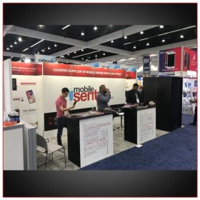 10x20 Trade Show Booth Rental Package 212 Layout Variation - LV Exhibit Rentals in Las Vegas