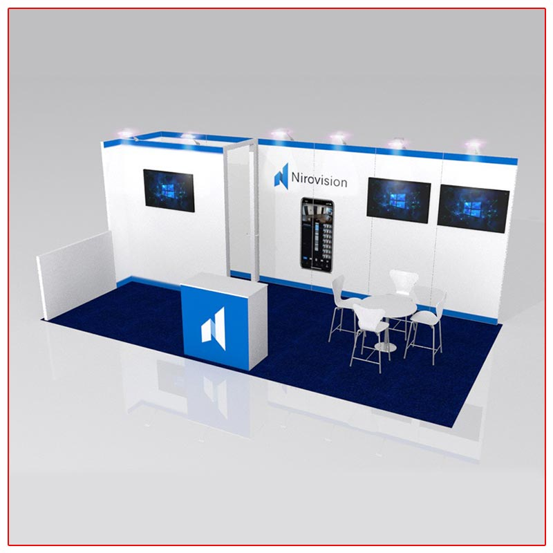 10x20 Trade Show Booth Rental Package 213 Angle View - LV Exhibit Rentals in Las Vegas