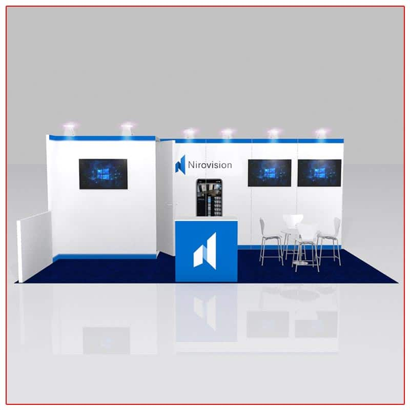 10x20 Trade Show Booth Rental Package 213 Front View - LV Exhibit Rentals in Las Vegas