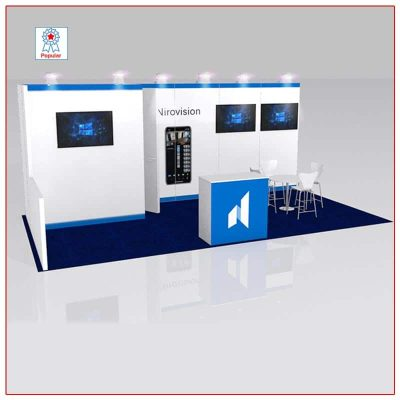 10x20 Trade Show Booth Rental Package 213 - LV Exhibit Rentals in Las Vegas