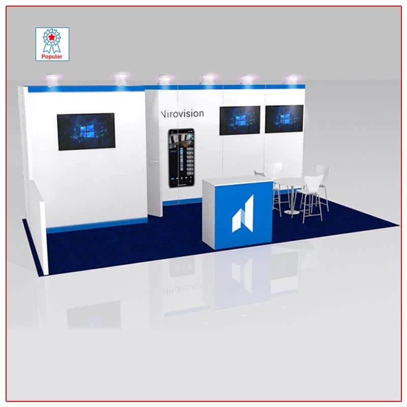 10x20 Trade Show Booth Rental Package 213 - LV Exhibit Rentals in Las Vegas