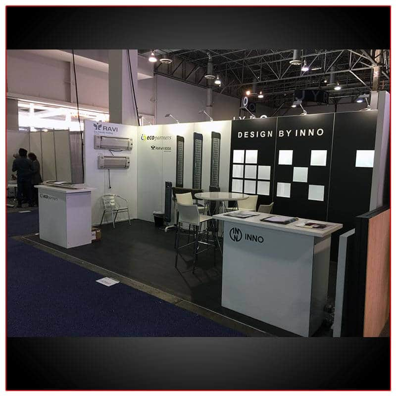 10x20 Trade Show Booth Rental Package 214 Angle View2 - LV Exhibit Rentals in Las Vegas
