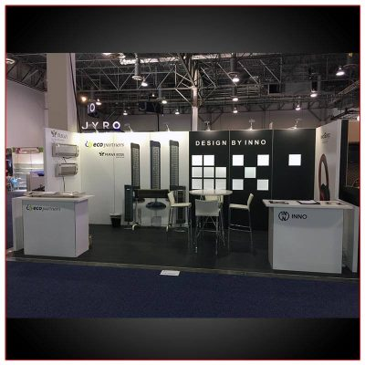 10x20 Trade Show Booth Rental Package 214 - LV Exhibit Rentals in Las Vegas