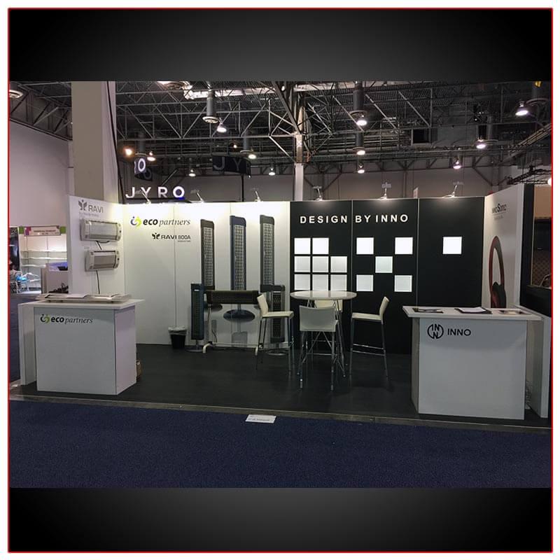 10x20 Trade Show Booth Rental Package 214 - LV Exhibit Rentals in Las Vegas