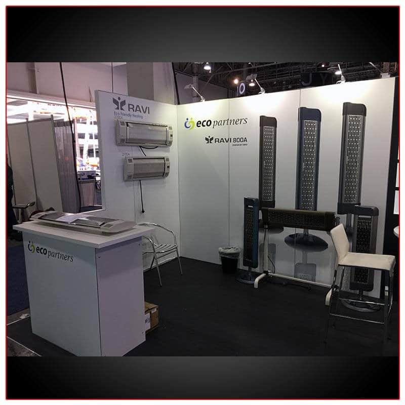 10x20 Trade Show Booth Rental Package 214 Left Side View- LV Exhibit Rentals in Las Vegas