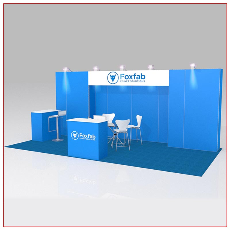 10x20 Trade Show Booth Rental Package 215 Angle View - LV Exhibit Rentals in Las Vegas