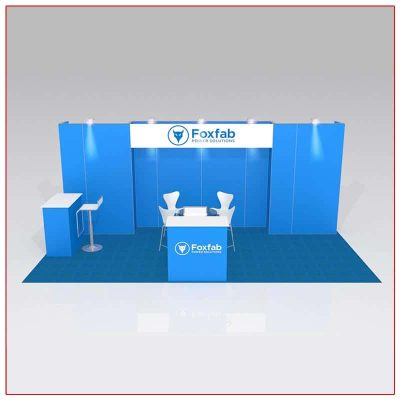 10x20 Trade Show Booth Rental Package 215 Front View - LV Exhibit Rentals in Las Vegas