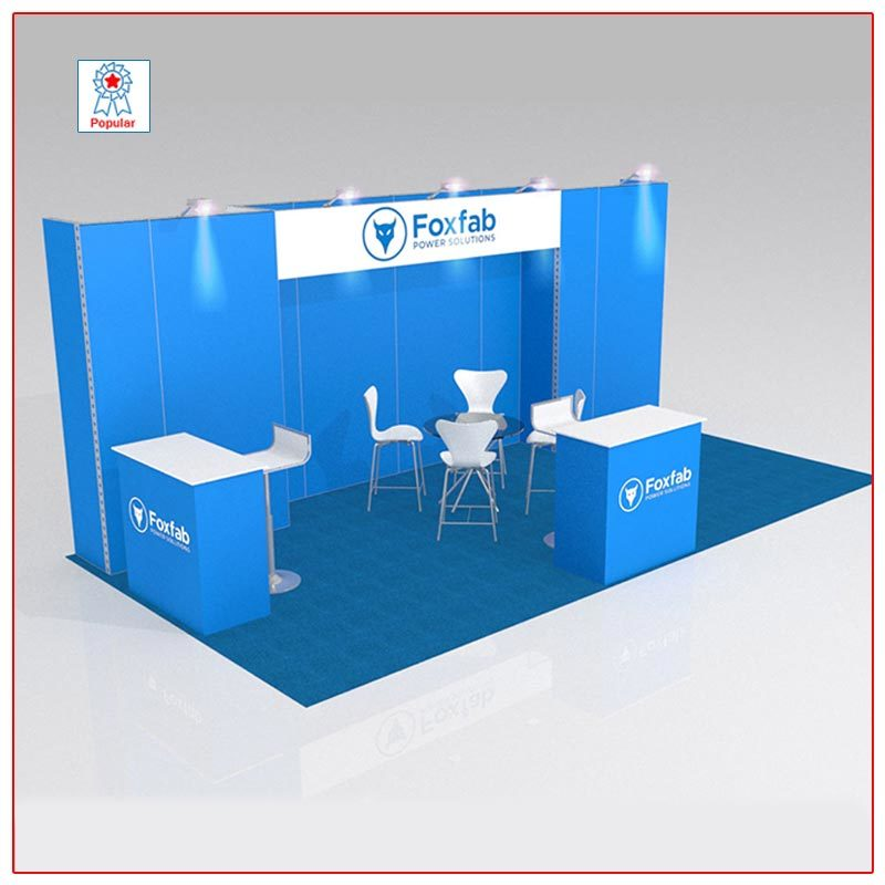 10x20 Trade Show Booth Rental Package 215 - LV Exhibit Rentals in Las Vegas
