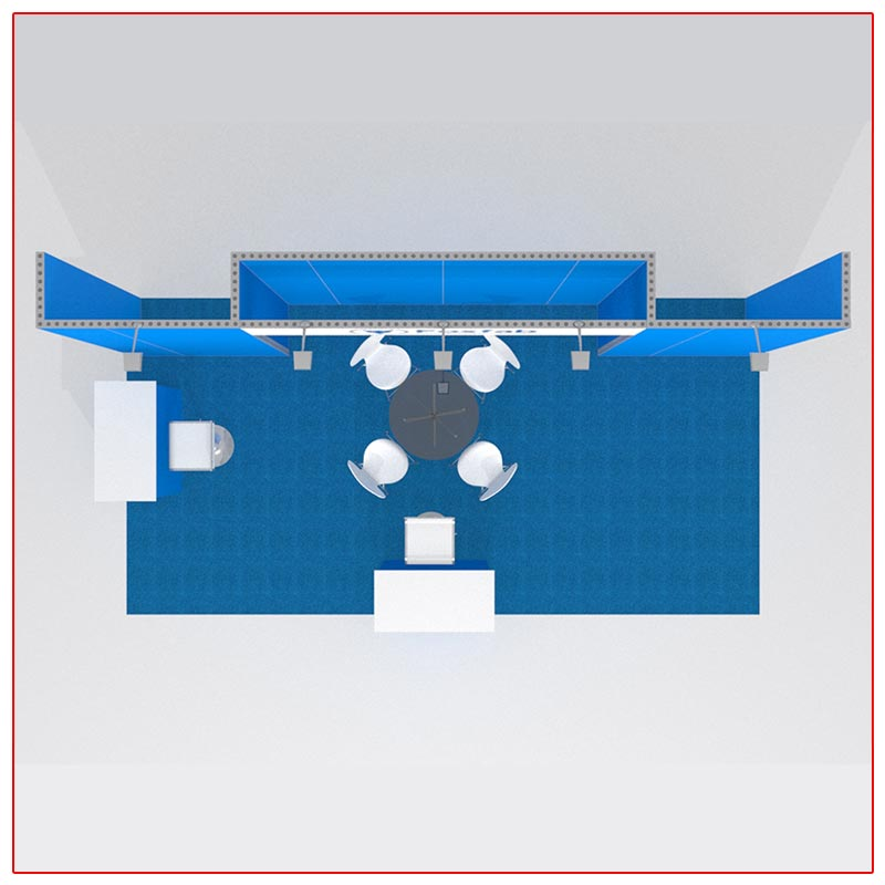 10x20 Trade Show Booth Rental Package 215 Top-Down View - LV Exhibit Rentals in Las Vegas