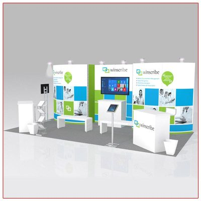 10x20 Trade Show Booth Rental Package 216 Angle View - LV Exhibit Rentals in Las Vegas