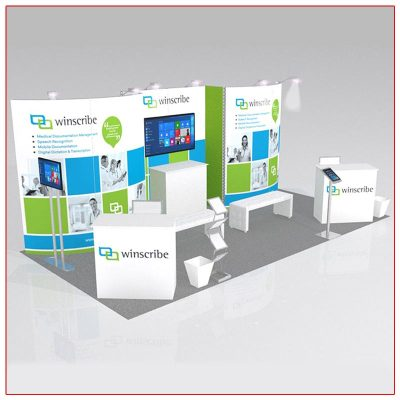 10x20 Trade Show Booth Rental Package 216 - LV Exhibit Rentals in Las Vegas
