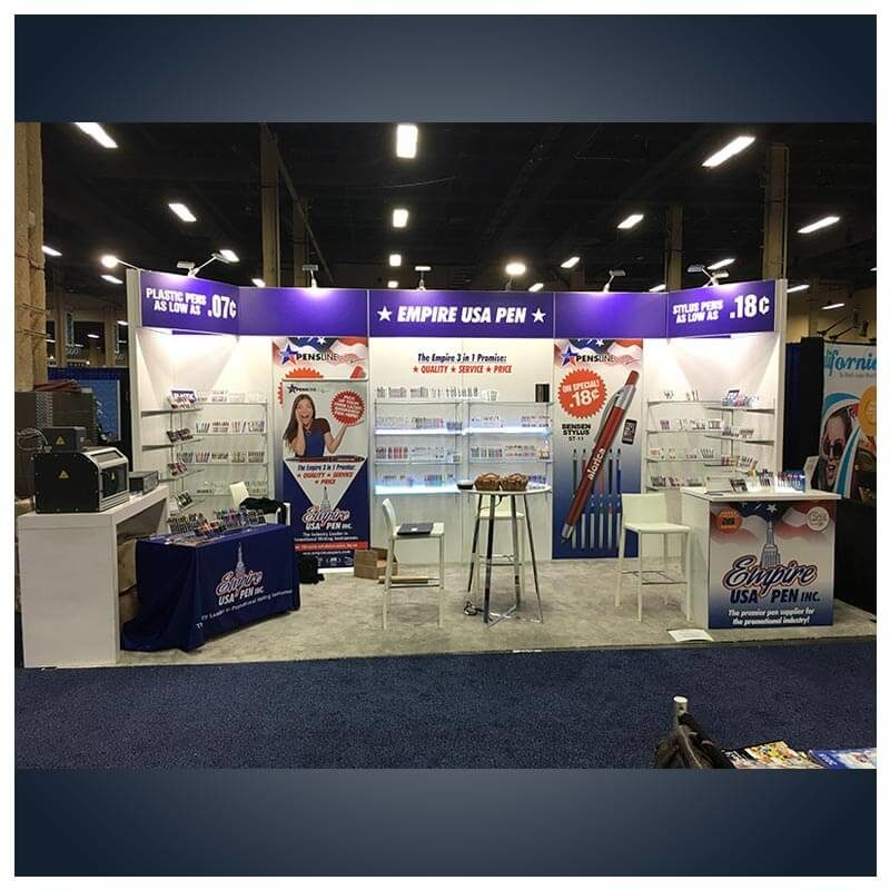 10x20 Trade Show Booth Rental Package 217 - LV Exhibit Rentals in Las Vegas
