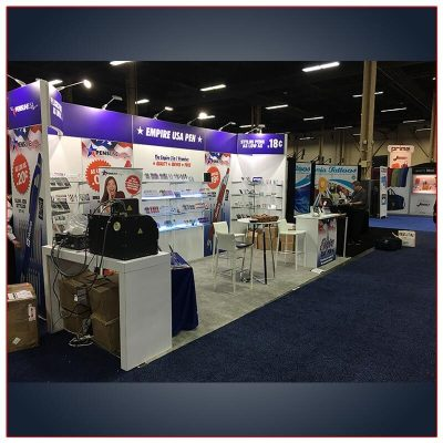 10x20 Trade Show Booth Rental Package 217 Side View - LV Exhibit Rentals in Las Vegas
