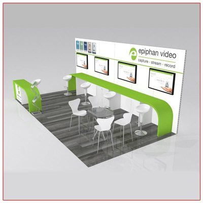 10x20 Trade Show Booth Rental Package 218 Angle View - LV Exhibit Rentals in Las Vegas