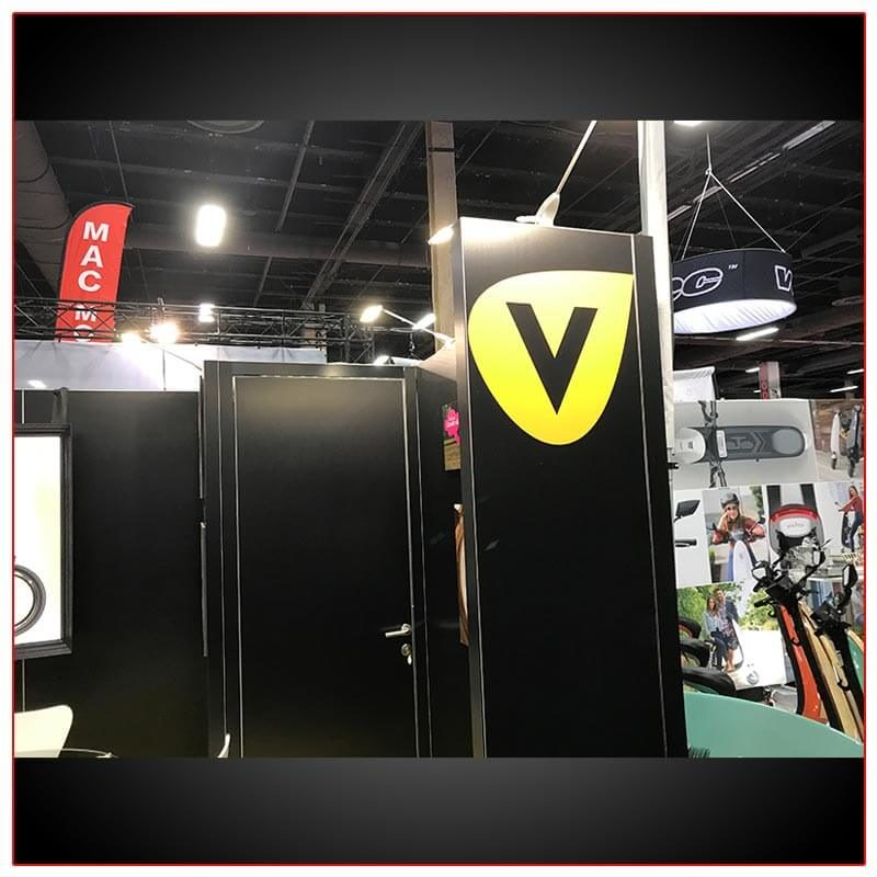 10x20 Trade Show Booth Rental Package 219 Closet View - LV Exhibit Rentals in Las Vegas