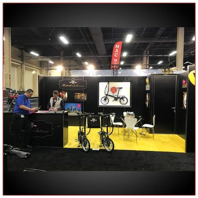 10x20 Trade Show Booth Rental Package 219 Front View - LV Exhibit Rentals in Las Vegas