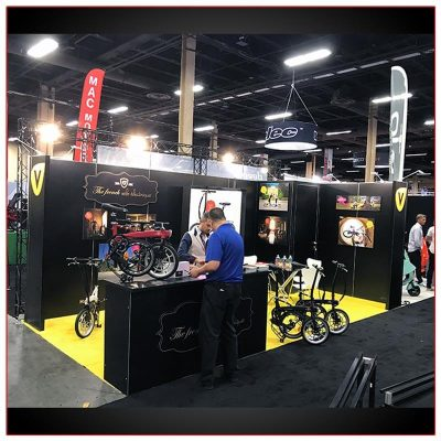 10x20 Trade Show Booth Rental Package 219 - LV Exhibit Rentals in Las Vegas