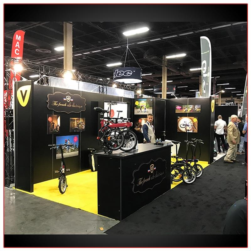 10x20 Trade Show Booth Rental Package 219 Side View - LV Exhibit Rentals in Las Vegas